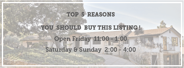 Top 5 Reasons 1151 Estrella Drive is the BEST Value in Hope Ranch