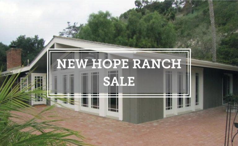 New Hope Ranch Closed Escrow 1237 Las Palmas Drive