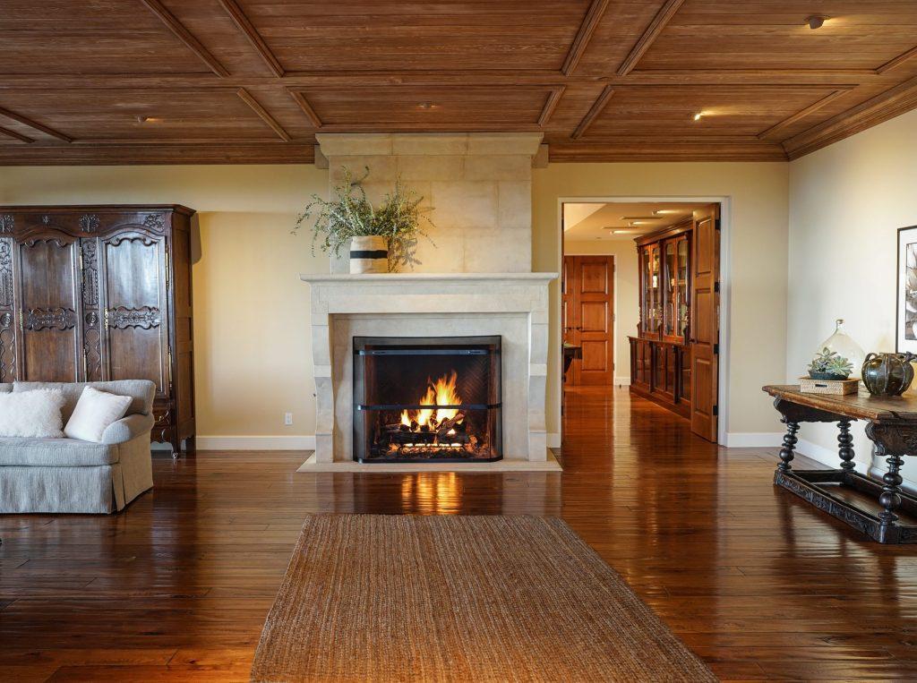 Living Room Fireplace to Den:Billiard Room copy
