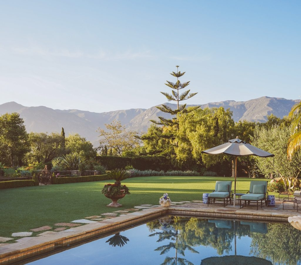Pool, Lawn and Mountain Views