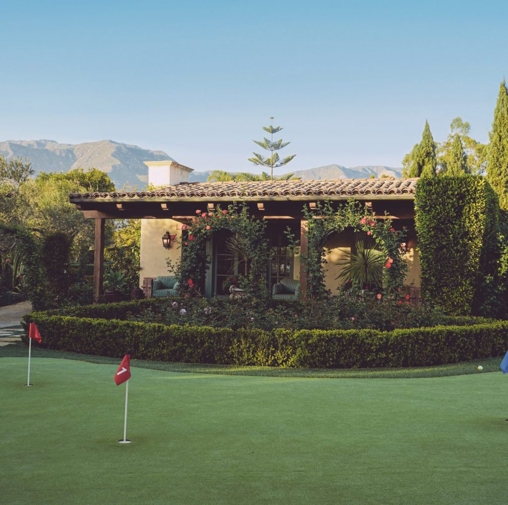 Putting Green with Guest House